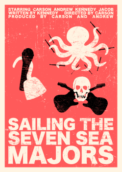 Sailing the Seven Sea Majors Poster