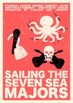 Sailing the Seven Sea Majors Poster